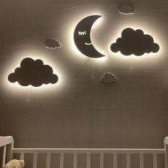 Clouds Nursery, Baby Nursery Bedding, Baby Bedroom, Nursery Wall Decor, Baby Room Decor, Nursery Signs, Best Baby Night Light, Bedroom Night Light, Kids Room Lighting