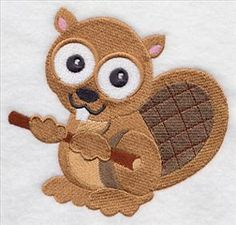 Woodland Wide-Eyed Lil' Cuties BEAVER (stitch-filled version)