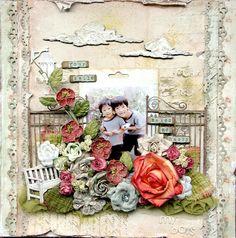 Scrapbook page by Maiko Kosugi