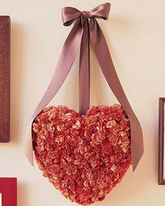 door wreath for Valentines