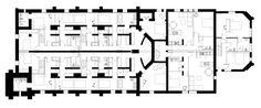 OSA_A184_BASMENT PLAN Church Conversions, Brickwork, Floor Plans, The Unit, How To Plan, Design, Masonry Construction, Design Comics, Brick Walls
