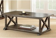 Steve Silver Southfield Cocktail Table - Weathered Pine - Coffee Tables at Hayneedle
