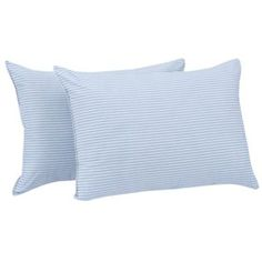 Mainstays Huge Pillow 20 inch x 28 inch in Blue and White Stripe Set of 2 Pillow Set, Pillow Shams, Bed Pillows, Sofa Bed, Large Pillows, White Pillows, Bed Backrest, Bed Wedge Pillow, Wedge Cushion