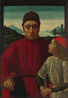 Renaissance: Francesco Sassetti and His Son Teodoro Domenico Ghirlandaio (Domenico Bigordi) (Italian, Florence Florence) Date: ca. 1488 Metropolitan Museum of Art Accession Number: Italian Renaissance Art, Renaissance Kunst, Renaissance Portraits, Renaissance Paintings, Medieval Paintings, San Marcos Evangelista, Renaissance And Reformation, Old Portraits, Italian Artist
