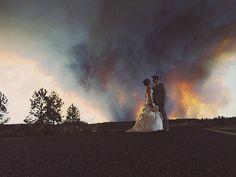 Couple Turn Oncoming Tornado into Stunning Wedding Photo Backdrop| Wedding, Around the Web, Real People Stories