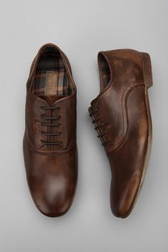 Bed Stu Cosburn Oxford Shoe - love the tweed inner sole and the distressed worn eatherl