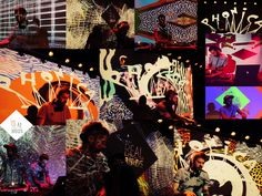 A collage of my work with keepreal at Cabaret Session, Bart's Club with @Phonicarecords, Barcelona.