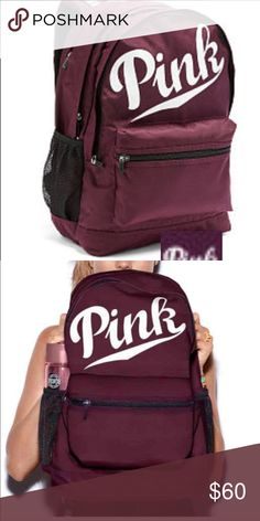 """BNWT PINK Victoria's Secret orchid campus backpack Durable fabric/ top stash pocket/ interior pockets/ padded laptop sleeve/ water bottle pockets/ comfy shoulder straps. 18""""H 12""""W 8""""D.    Brand new in original package  Last One 🚫SOLD Out Instore and online PINK Victoria's Secret Bags Backpacks"""