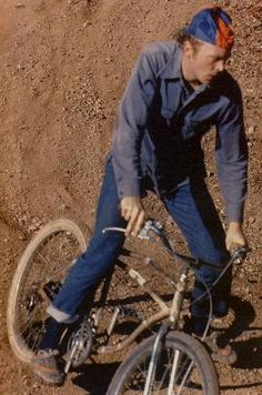 Gary Fisher on his original homemade mountain bike.