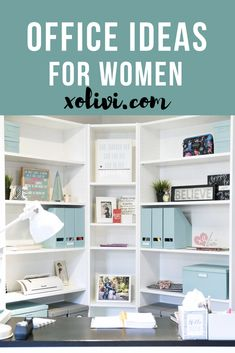 How to create an office corner for women using Billy Bookcase from IKEA