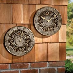 Ivy Silhouette Outdoor Clock U0026 Thermometer