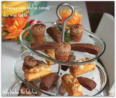Mini brownies sans gluten