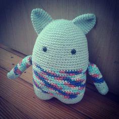 Amigurumi Cronopio   www.pinkyminky.com.ar 100% crochet hecho a mano en algodón natural