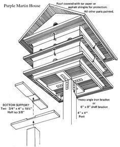 Bird house plans building bird houses and purple martin bird Bird Feeder Plans, Bird House Feeder, Bird Feeders, Purple Martin House Plans, Martin Bird House, Bird House Plans Free, Bird House Kits, Bird Aviary, Bird Houses Diy
