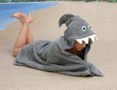Hooded Towel - Sandy Shark by Yikes Twins, http://www.amazon.com/dp/B008CP9UJW/ref=cm_sw_r_pi_dp_utj8rb11EB5YF