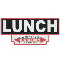 Wrigleys-Doublemint-Gum-Lunch-Embossed-Tin-Sign-Candy-Sign-Kitchen-Decor-13-x-6
