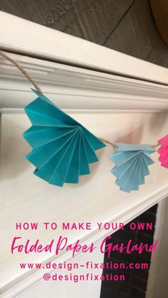 Learn How To Make Your Own Colorful DIY Paper Garland for your next party, shower or event! /// By Faith Learn How To Make Your Own Colorful DIY Paper Garland for your next party, shower or event! /// By Faith Towers Provencher of Design Fixation Paper Flowers Diy, Diy Paper, Paper Crafts, Origami Paper, Decoration Creche, Origami Decoration, Wall Decoration With Paper, Hanging Paper Decorations, Paper Wall Hanging