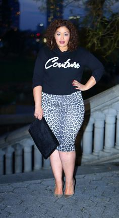 Inside Allie's World: Day 13: Comfort & 'Couture' - Top: Juicy Couture via Kohl's Skirt: Dorothy Perkins - Plus Size Fashion