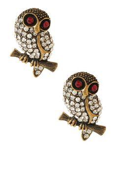 Sitting Owl Earrings on HauteLook