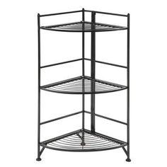 """Convenience Concepts Designs2Go 32"""" Corner Shelf Bookcase Finish: Black"""