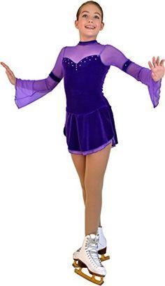 Chloe Noel Figure Skating 2 Layers Skirt Flare Long-Sleeve Velvet Dress DLV16 Purple Child Extra Large/Adult Extra Small ChloeNoel http://www.amazon.com/dp/B00LU5PGBC/ref=cm_sw_r_pi_dp_YR.kub1YCX1T2