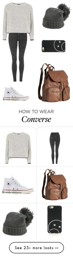 """""""Untitled #1807"""" by ihavepashion-forfashion on Polyvore featuring Topshop, Converse, G-Star Raw, H&M and Marc by Marc Jacobs"""