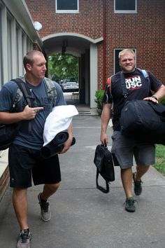 from Carolina Panthers Richie Brockel and Jeff Byers moving in.