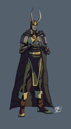 Loki Color Sketch! by *EricGuzman