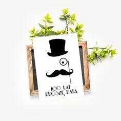 """Kartka urodzinowa, """"Moustache"""" -   Sklep EMPIK.COM"""