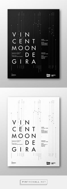Vincent Moon de Gira on Behance Inspire by the 2 color tone. Type Posters, Graphic Design Posters, Graphic Design Typography, Graphic Design Illustration, Graphic Design Inspiration, Graphisches Design, Book Design, Cover Design, Layout Design