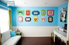 colorful picture frames for a kids room