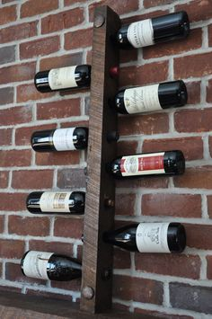 Rustic Wine Rack 8 Bottle Ladder