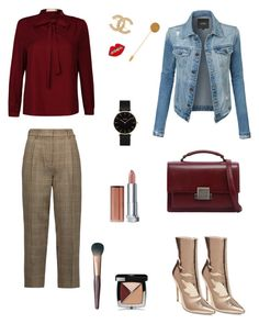 """""""Gold boots 3 ways #3"""" by raquel-c-macias on Polyvore featuring Steve Madden, LE3NO, 3.1 Phillip Lim, Yves Saint Laurent, Chanel, Shourouk, Hermès, CLUSE and Maybelline"""