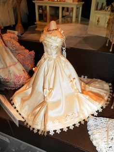 1-12th Scale miniature wedding gown.. $62.00, via Etsy.