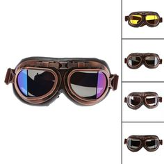 Buy US $10.17  Motorcycle Goggles Glasses Vintage Motocross Classic Goggles Retro Aviator Pilot Cruiser Steampunk ATV Bike UV Protection Copper
