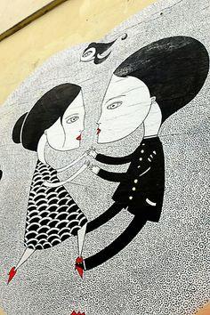 Paris 20 - rue julien lacroix - street art - Fred le chevalier