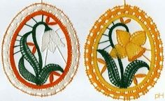 velikonoční podvinky zdarma - Hledat Googlem Lace Necklace, Lace Jewelry, Types Of Lace, Bobbin Lace Patterns, Creative Embroidery, Lace Heart, All Craft, Lace Making, Lace Flowers