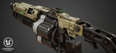 ArtStation - Doom 4: Grenade Launcher | Game Ready Hard Surface model, Joni Niemi | ZaiKoni