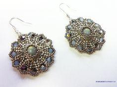 """Tutorial perline, orecchini """"Mini Eros"""" con delica rocailles e perle  pe..."""