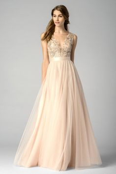 Blush Watters bridesmaid dress: http://www.stylemepretty.com/2016/02/22/taylor-swift-maid-of-honor-dress-britany-maack/
