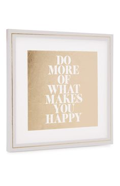 Primark - Do More Slogan Foil Canvas Art