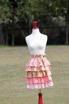 Womens+Pink+Ruffled+5+Tier+Half+Apron+Sweet+.                ~                        WISH THESE WERE SKIRTS, INSTEAD OF HALF APRONS & THAT HER APRONS, WERE DRESSES (since I CAN  cook... BUT, I DESPISE doing so, & AVOID it AS MUCH AS POSSIBLE -& I'm QUITE SUCCESSFUL, in THAT AREA- lol!)❗️SHE REALLY HAS AMAZING TASTE IN FABRIC PRINTS, I JUST ADORE HER CREATIONS‼️‼️‼️➕⭐️⚠️⭐️➕‼️‼️‼️➕‼️