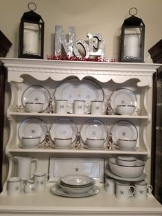 Christmas dishes display!!!
