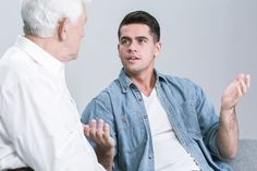 Overcoming Resistance: Difficult Conversations with your Aging Parents Senior Care Services, Denim Button Up, Button Up Shirts, Difficult Conversations, Aging Parents, Alzheimer's And Dementia, Elderly Care, Men Casual, Mens Tops