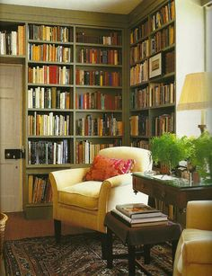 Trendy home library cosy built ins 32 ideas Home Interior, Interior Design, Cozy Library, Library Corner, Bibliotheque Design, Home Library Design, English Decor, Home Libraries, Living Spaces