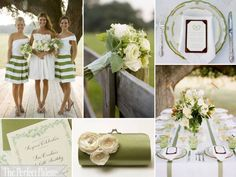green and white http://www.theperfectpalette.com/2012/03/spring-fever-green-white.html