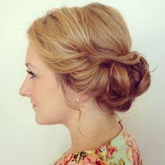 Stunning updo for a bridesmaid or bride! Beautiful hair by www.amandalynnsalon.com