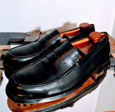 ab10c5756c4 TODS PENNY LOAFERS MENS SIZE US 8.5 BLACK LEATHER DRESS SHOES  fashion   clothing  shoes  accessories  mensshoes  dressshoes (ebay link)