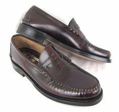 Johnston & Murphy Aristrocraft Penny Loafers 8.5 A Vintage NOS Burgundy Leather #JohnstonMurphy #LoafersSlipOns