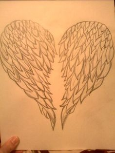 Heart Wing drawing I did!